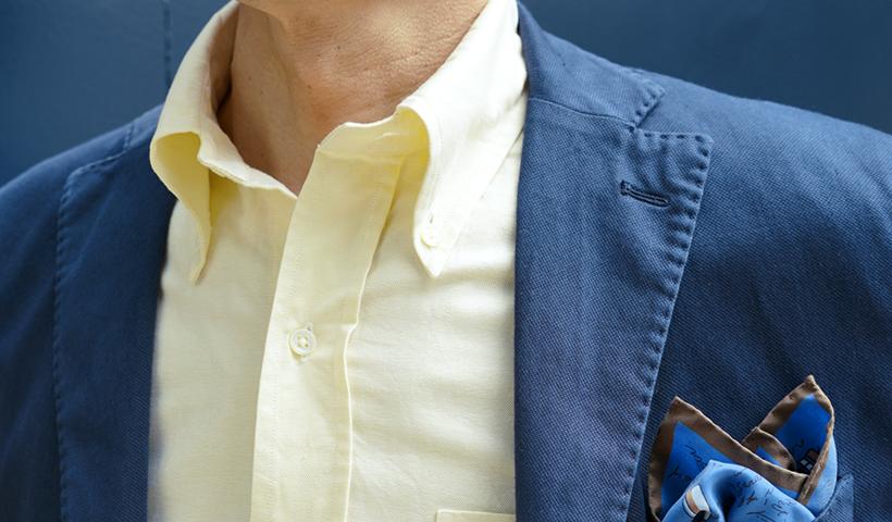 ボタンダウンシャツの着用画像