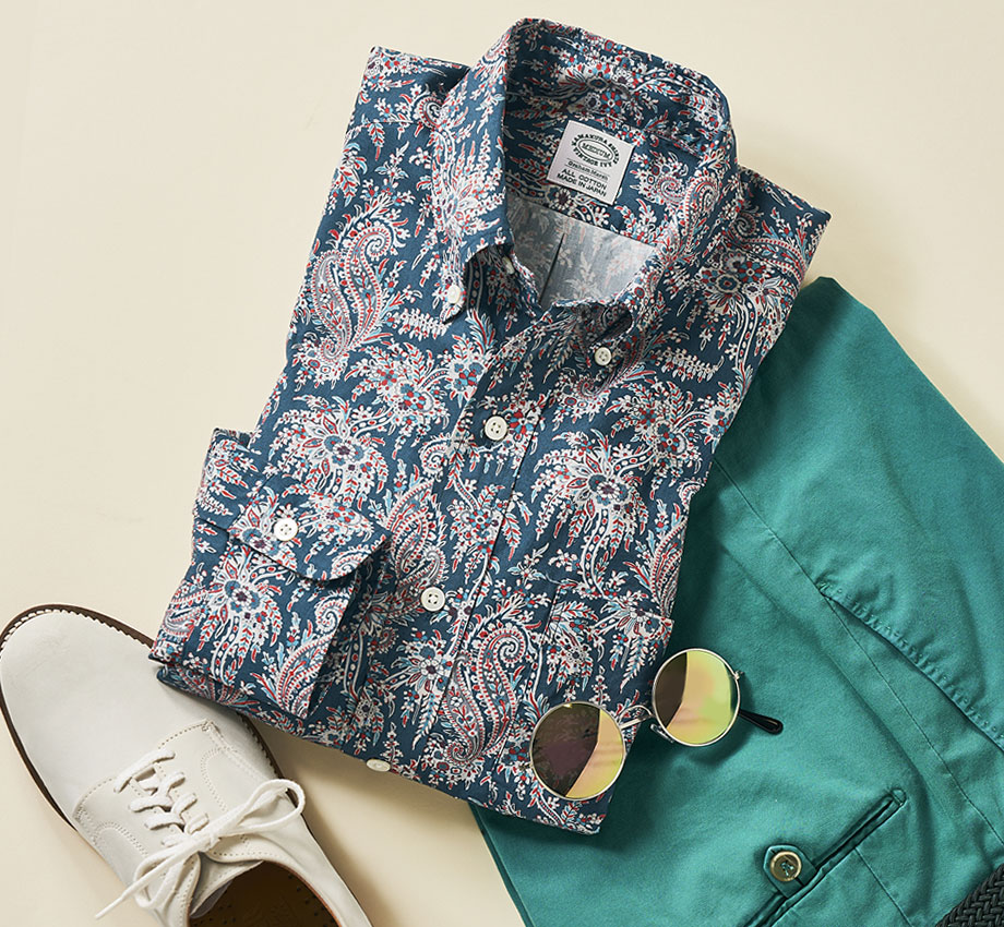 PAISLEY BUTTON-DOWN